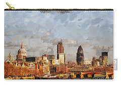London Skyline From The River  Carry-all Pouch by Pixel Chimp