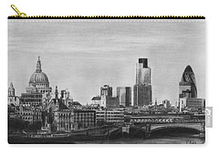 London Skyline Pencil Drawing Carry-all Pouch