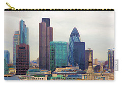 London Skyline Carry-all Pouch by Ron Harpham