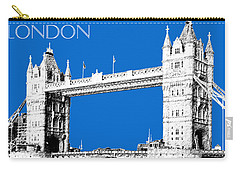 London Skyline Tower Bridge - Blue Carry-all Pouch