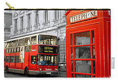 London With A Touch Of Colour Carry-all Pouch by Nina Ficur Feenan