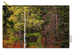Lone Aspen In Fall Carry-all Pouch by Chad Dutson