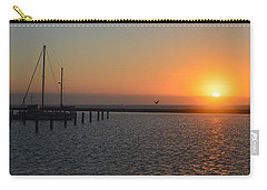 Lone Bird At The Marina Carry-all Pouch by Leticia Latocki