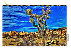 Carry-all Pouch featuring the photograph Lone Joshua by Benjamin Yeager