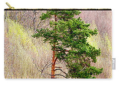 Carry-all Pouch featuring the photograph Lone Pine by Les Palenik