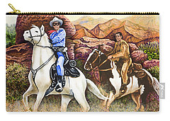 Lone Ranger And Tonto Ride Again Carry-all Pouch