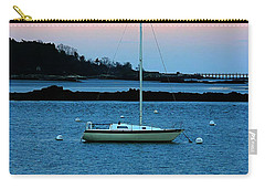 Lone Sailboat At York Maine Carry-all Pouch by Denyse Duhaime