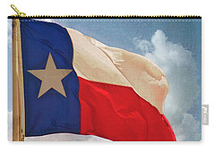 Lone Star Flag Carry-all Pouch by Walter Herrit