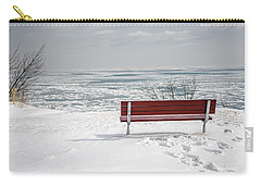 Lonely Bench Carry-all Pouch by Susan  McMenamin