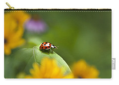Carry-all Pouch featuring the photograph Lonely Ladybug by Christina Rollo