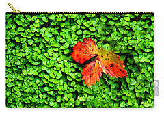 Carry-all Pouch featuring the photograph Lonely Leaf by Charlie and Norma Brock