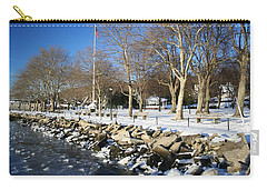 Lonely Park Carry-all Pouch by Karen Silvestri