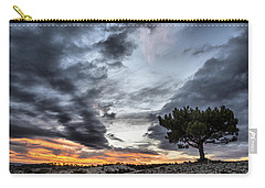 Carry-all Pouch featuring the photograph Lonely Tree by Okan YILMAZ