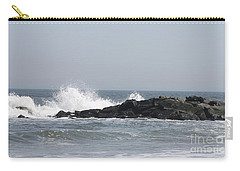 Carry-all Pouch featuring the photograph Long Beach Jetty by John Telfer