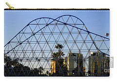 Carry-all Pouch featuring the photograph Long Beach Lines by Clayton Bruster