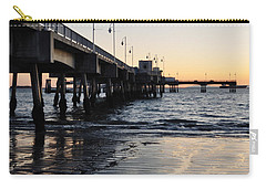 Carry-all Pouch featuring the photograph Long Beach Pier by Kyle Hanson
