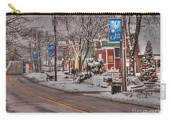 Long Grove In Snow Carry-all Pouch by David Bearden