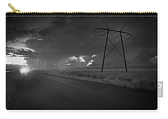 Carry-all Pouch featuring the photograph Long Road Home by Bradley R Youngberg