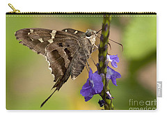 Carry-all Pouch featuring the photograph Long-tailed Skipper Photo by Meg Rousher