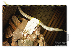 Carry-all Pouch featuring the photograph Longhorn by Erika Weber