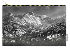 Longs Peak Rocky Mountain National Park Black And White Carry-all Pouch