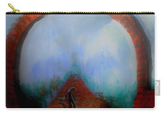 Carry-all Pouch featuring the painting Lonliness At Large by Lisa Kaiser