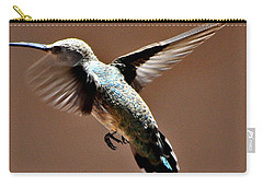 Carry-all Pouch featuring the photograph Look At My Crazy Crows Feet by Jay Milo