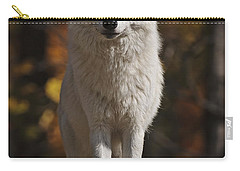 Carry-all Pouch featuring the photograph Look Out by Wolves Only