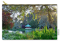 Carry-all Pouch featuring the photograph Looking Across Stow Lake At The Pagoda In Golden Gate Park by Jim Fitzpatrick