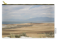 Carry-all Pouch featuring the photograph Looking North From Antelope Island by Belinda Greb
