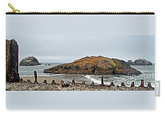 Carry-all Pouch featuring the photograph Looking Out On The Pacific Ocean From The Sutro Bath Ruins In San Francisco  by Jim Fitzpatrick