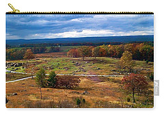 Carry-all Pouch featuring the photograph Looking Over The Gettysburg Battlefield by Amazing Photographs AKA Christian Wilson