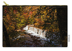 Looking Through Autumn Trees On To Waterfalls Fine Art Prints As Gift For The Holidays  Carry-all Pouch