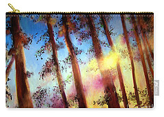 Looking Through The Trees Carry-all Pouch by Alison Caltrider