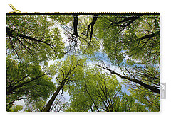 Carry-all Pouch featuring the digital art Looking Up by Ron Harpham