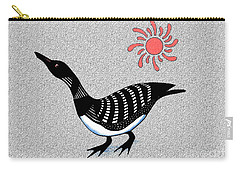Loon And Sun Carry-all Pouch