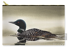 Loon In Still Waters Carry-all Pouch by James Williamson
