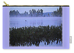 Loon On A Misty Morning At Parker Carry-all Pouch