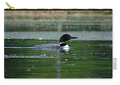 Loon On Indian Lake Carry-all Pouch by Steven Clipperton