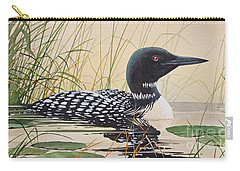 Loon's Tranquil Shore Carry-all Pouch by James Williamson