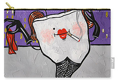 Carry-all Pouch featuring the painting Loose Tooth by Anthony Falbo