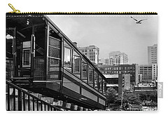 Los Angeles Angels Flight.bw Carry-all Pouch by Jennie Breeze