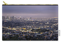 Carry-all Pouch featuring the photograph Los Angeles At Night From The Griffith Park Observatory by Belinda Greb