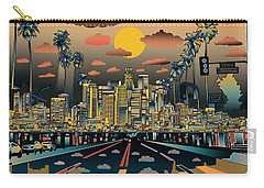 Los Angeles Skyline Abstract 2 Carry-all Pouch
