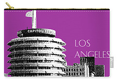 Los Angeles Skyline Capitol Records - Plum Carry-all Pouch