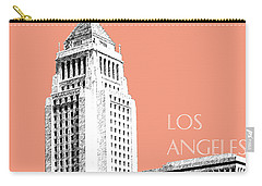 Los Angeles Skyline City Hall - Salmon Carry-all Pouch