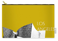 Los Angeles Skyline Disney Theater - Gold Carry-all Pouch