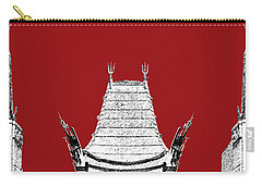 Los Angeles Skyline Graumans Chinese Theater - Dark Red Carry-all Pouch