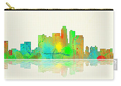 Los Angeles California Skyline Carry-all Pouch by Marlene Watson