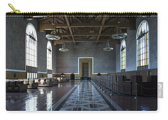 Carry-all Pouch featuring the photograph Los Angeles Union Station - Custom by Belinda Greb